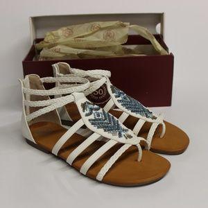 SO Guppy Women's Gladiator Sandals - White